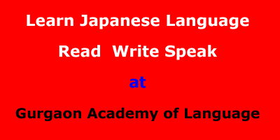 Learn Japanese Language at Gurgaon:Reading-Writing-Speaking