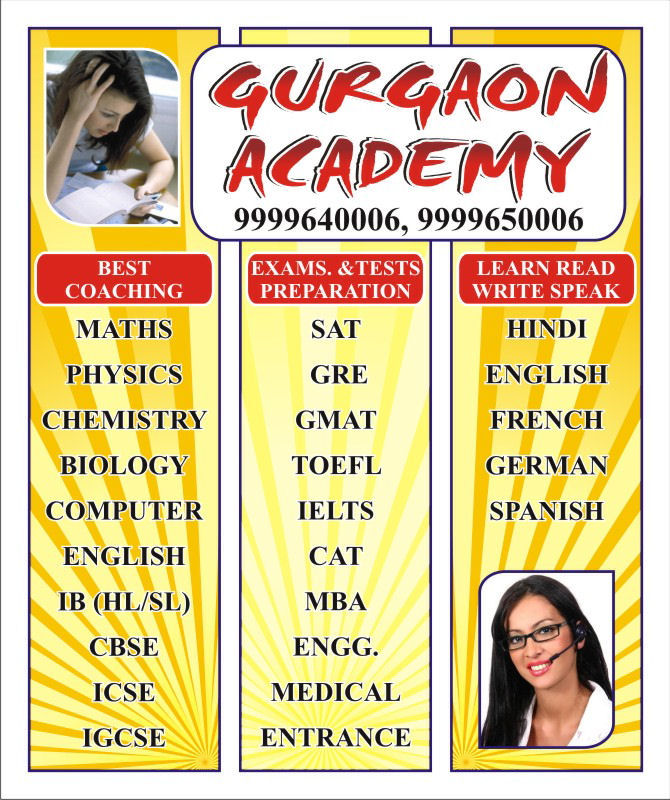 All classes All Subjects Private Class room Coaching Centre Institute in Gurgaon