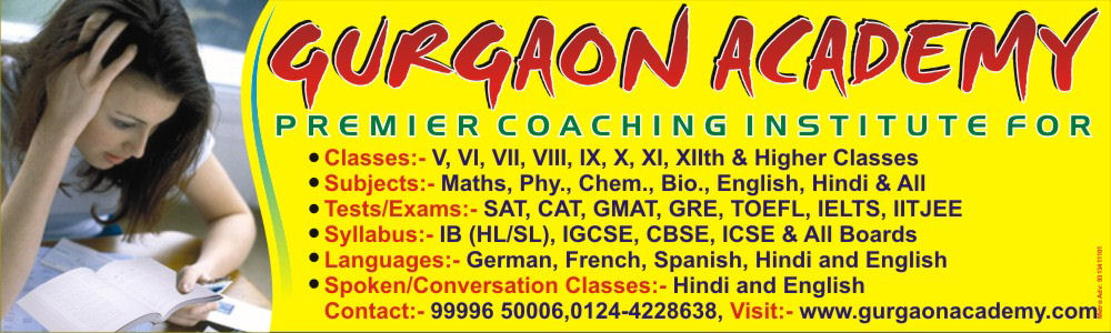Gurgaon Academy Coaching Centre Private Institute for IX-X-XI-XIIth Classes All Subjects