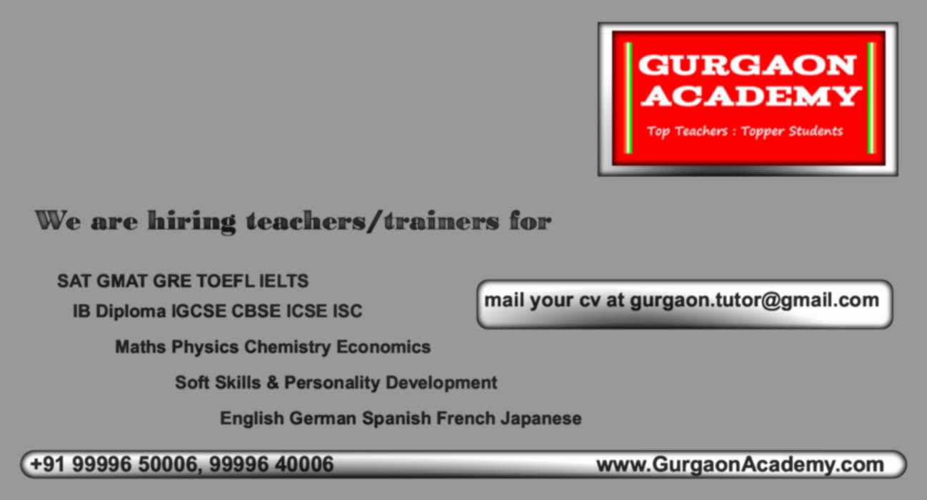 Coaching Centre Institute Gurgaon(99996 50006): German Spanish French English Hindi Languages