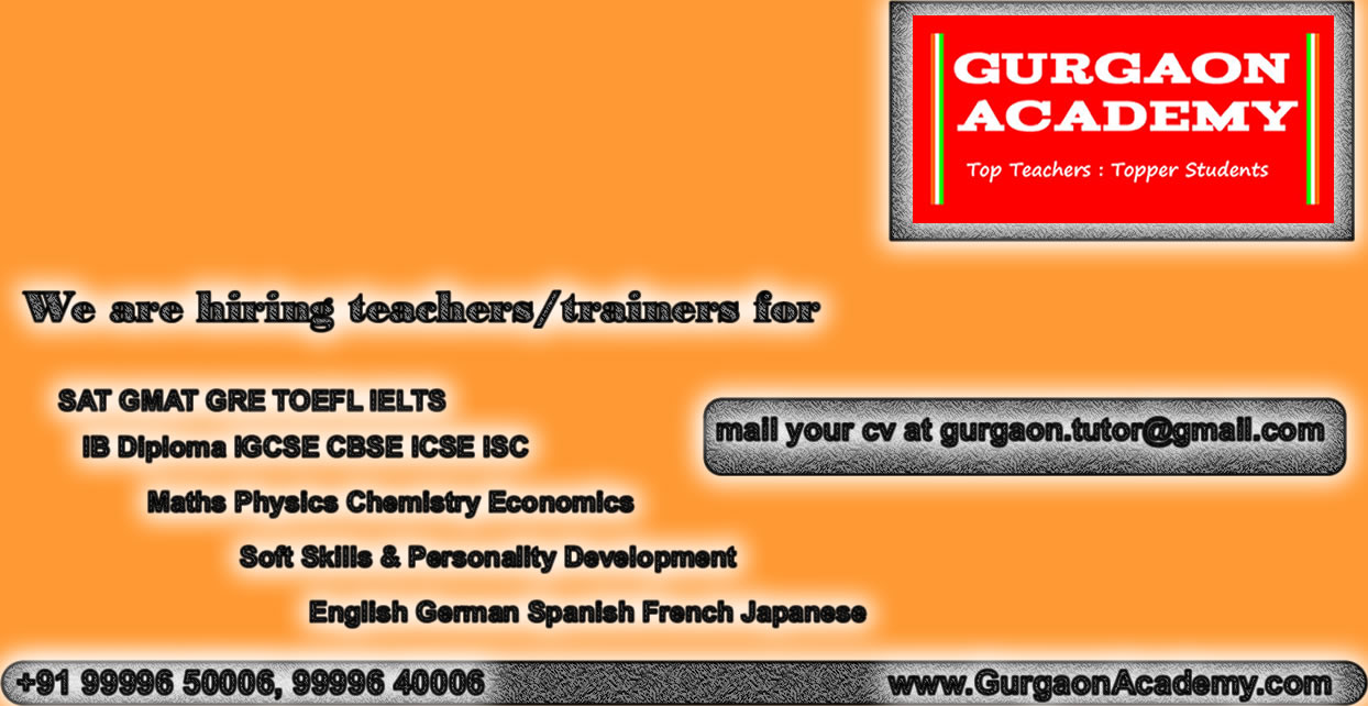 Gurgaon Coaching Centre Sector Gurgaon Academy for IB Diploma TUTOR TUITION