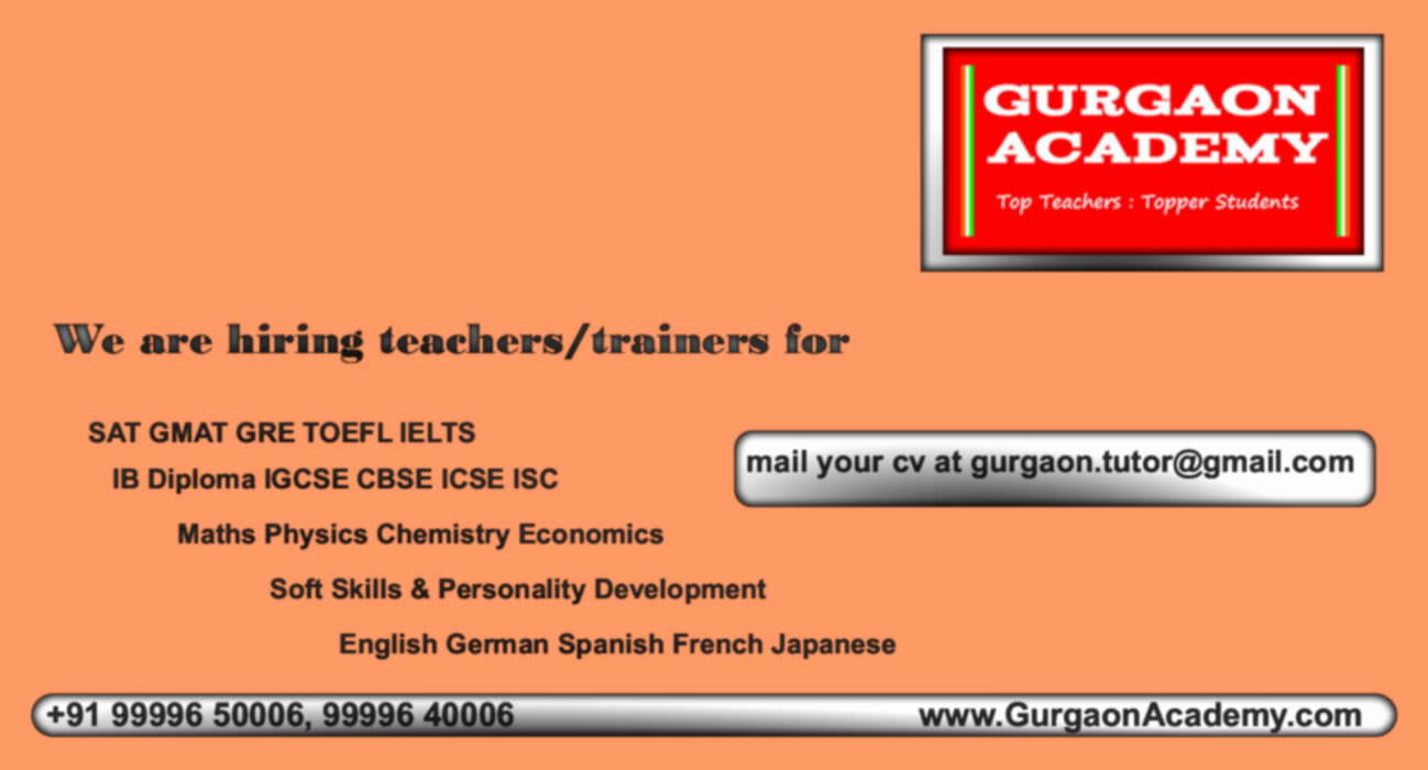 Best Coaching for CBSE Board Students(99996 50006):Gurgaon Academy Coaching Centre for Maths Science English Economics 11TH 12TH