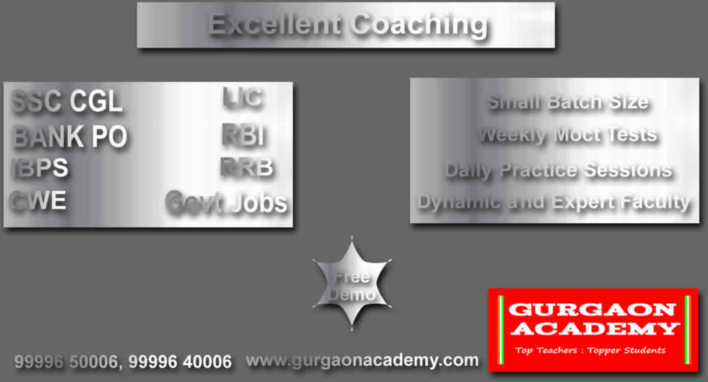 India's Top and Trusted Coaching Institute for SSC BANK PO Exams in Gurgaon Old DLF COLONY