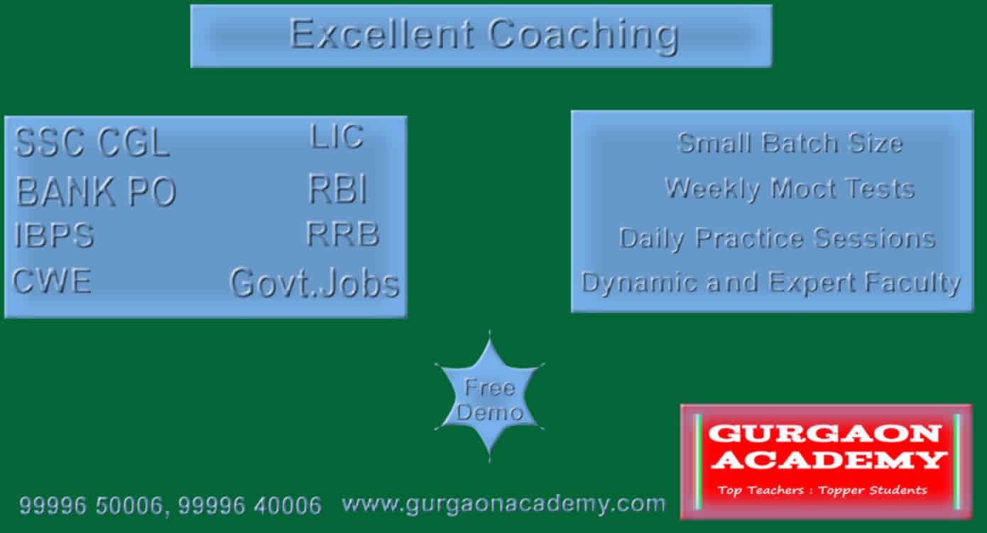 Top 5 Coaching Bank PO SSC Institutes (99996 50006):Govt. Jobs Examination Test Preparation Coaching Institute Gurgaon
