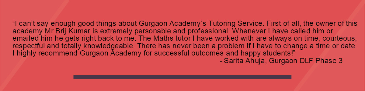 Testimonial-Gurgaon Academy Coaching Institute-Sarit Ahuja DLF PHASE 3