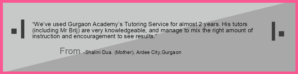 Testimonial-Gurgaon Academy Coaching Institute-Shalini Dua Ardee City