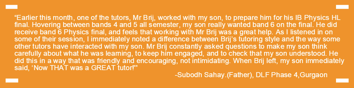 Testimonial-Gurgaon Academy Coaching Institute-Subodh Sahay DLF 4
