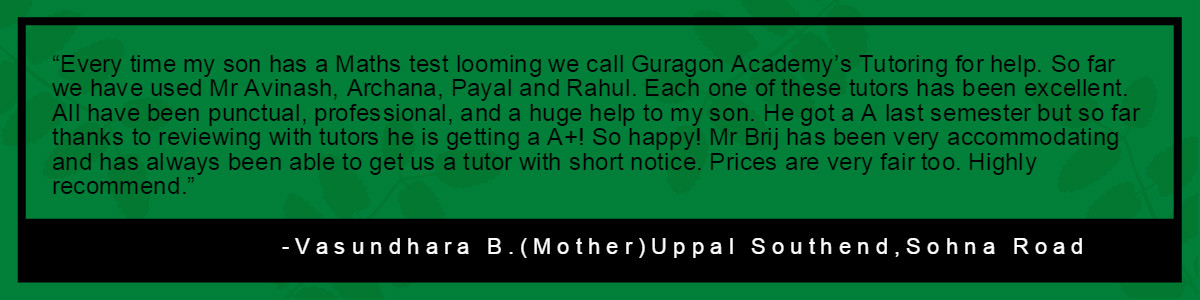 Vasundhara B. Uppal Southend-Testimonial-Gurgaon Academy Coaching Institute
