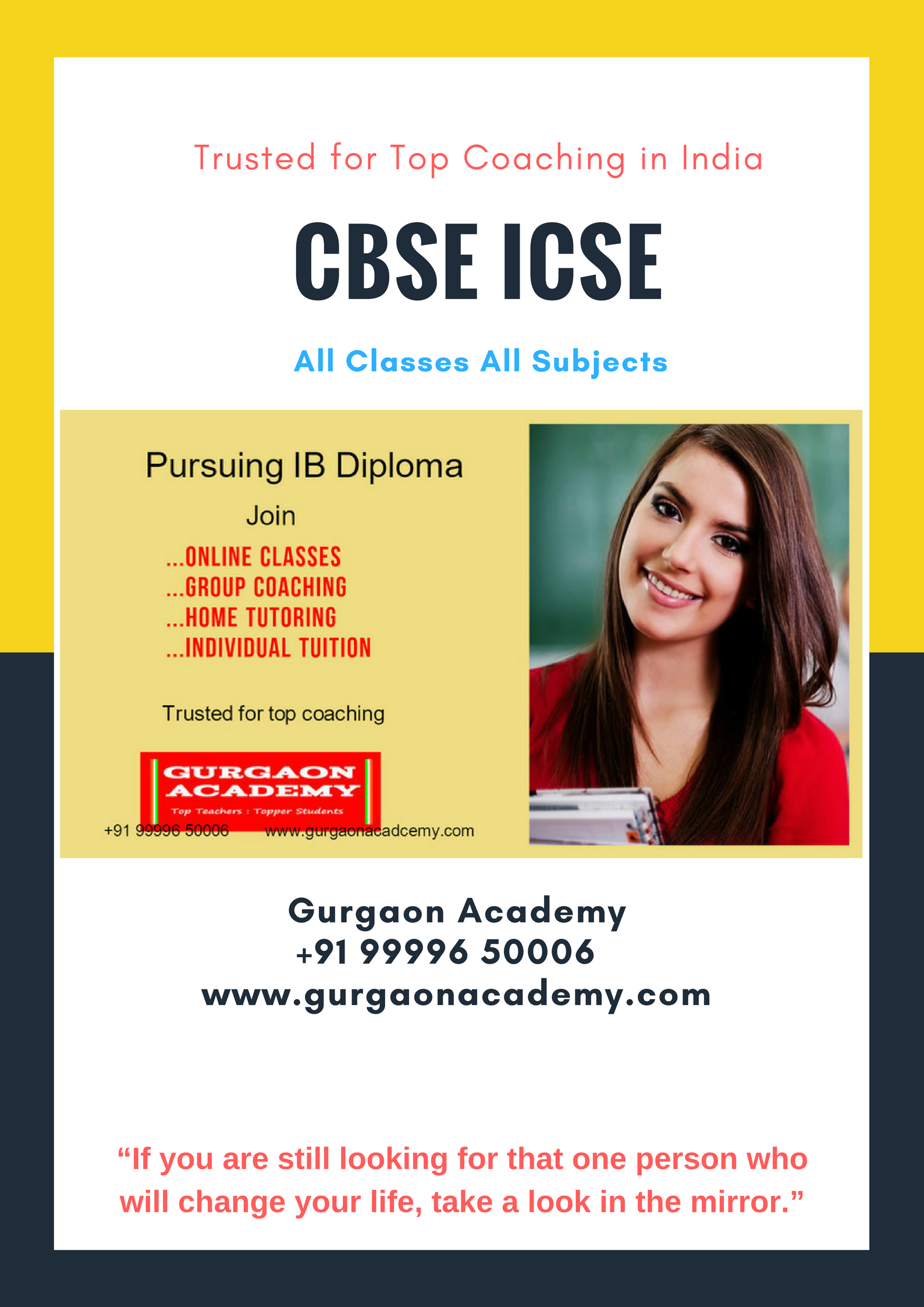 CBSE IGCSE IBDP MYP ICSE Institute(99996 50006):Gurgaon Academy Coaching Institute Tuition Teacher Learning Centre for All Subject in Gurugram