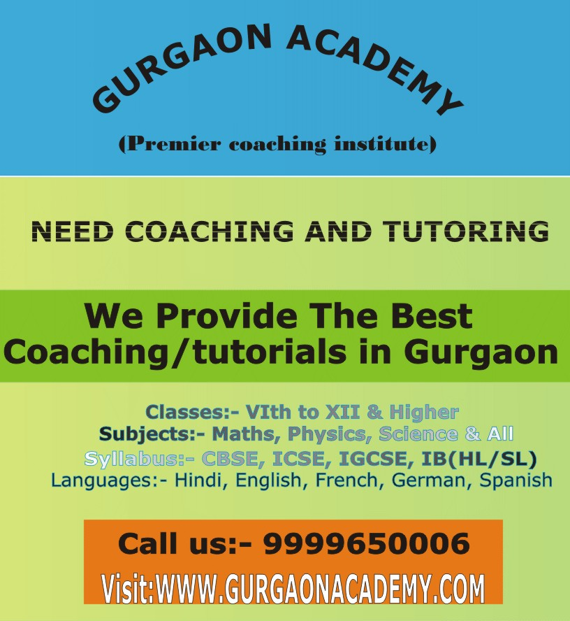 Gurgaon Coaching Institute Gurgaon Coaching Classes for IB Diploma Subjects