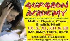 Gurgaon Academy for GMAT SAT IB IGCSE ICSE Coaching for Maths Verbal English