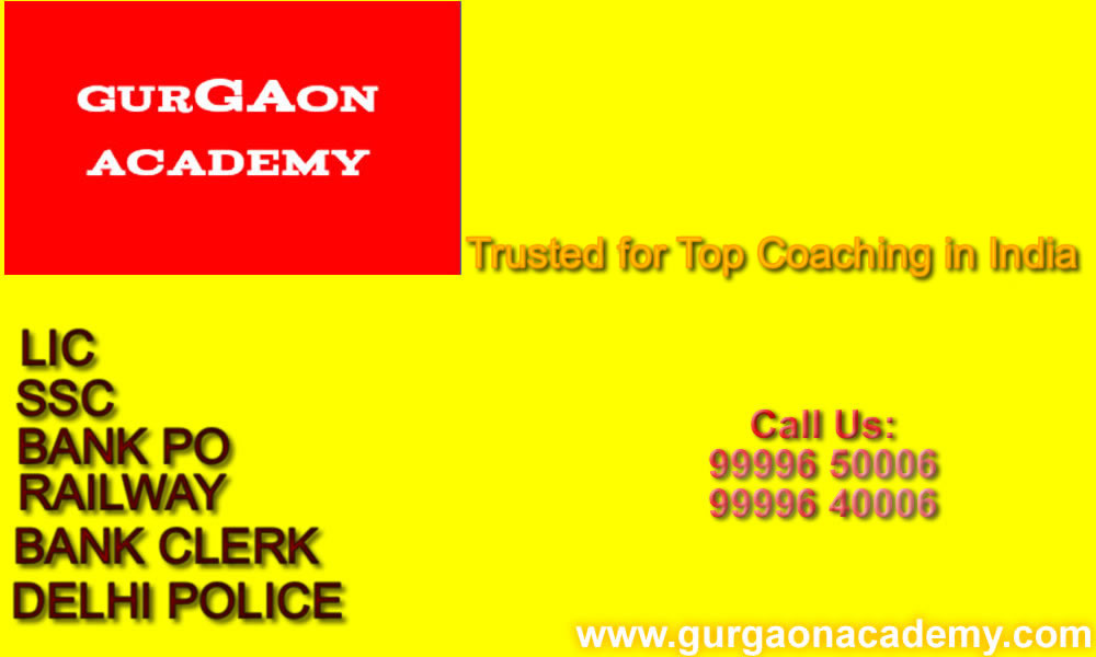 Reputed Top Famous Trusted Coaching Institute for Bank PO SSC LIC Railways Exams in Gurgaon